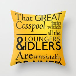 Holmesian London Throw Pillow