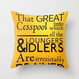 Holmesian London Throw Pillow