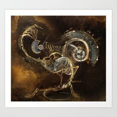 The Clockwork Music - fig.1 Art Print