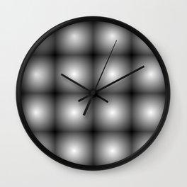 reflected black Wall Clock