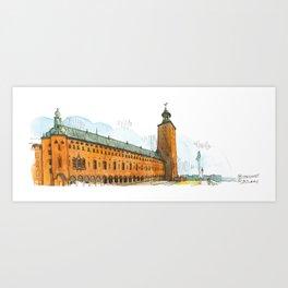 Stockholm Town Hall Art Print