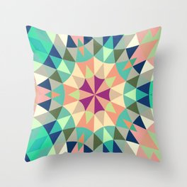Cool Pink Retro Geometry Throw Pillow