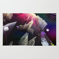 hologram Area & Throw Rugs featuring Moonlight Drive by Antonio Jader