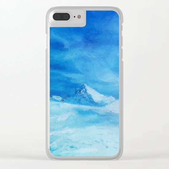 Huge and blue Clear iPhone Case
