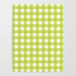 Lime Gingham Poster