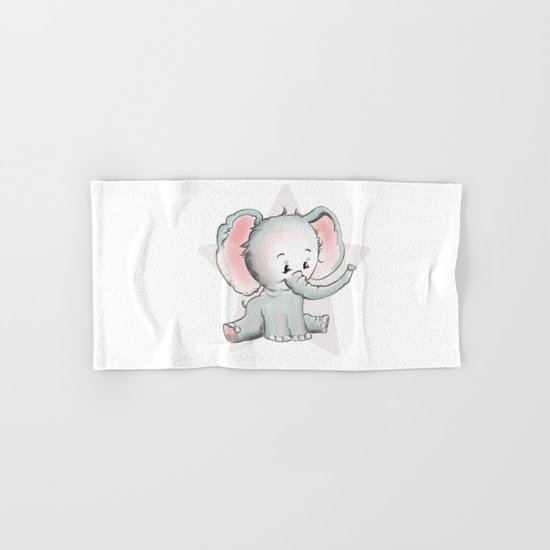 Baby Elephant Hand & Bath Towel