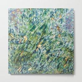 Ocean Life Abstract Metal Print