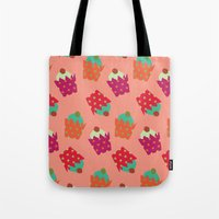 cupcakes Tote Bags featuring Cupcakes  by Ingrid Castile