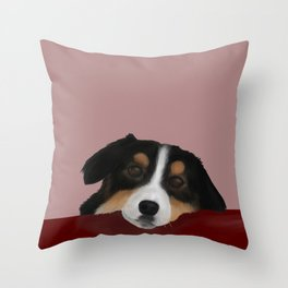 Eddie the Border Collie Throw Pillow