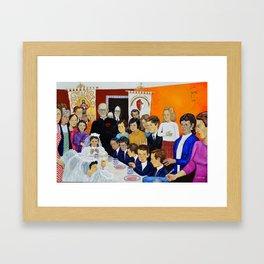 The Breakfast of the First Communion El Desayuno Juan Manuel Rocha Kinkin Framed Art Print