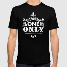 The one and only Black Mens Fitted Tee MEDIUM
