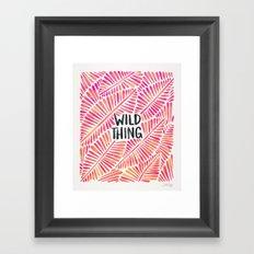 Wild Thing – Pink Ombré & Black Palette Framed Art Print