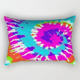 Batik Flower Power Spiral grunge Rectangular Pillow