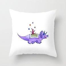 Trick-ceratops! Throw Pillow