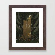 ecologist's daughter Framed Art Print