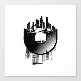 Urban Vinyl of Underground Music Canvas Print