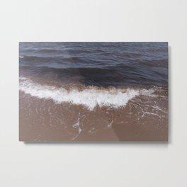 Strong Waves at Beach Metal Print