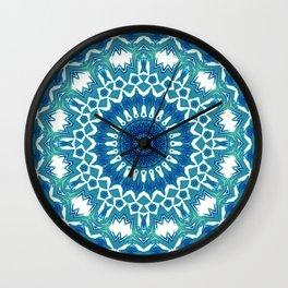 Sea Green Mandala Wall Clock