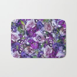 Romantic flowers III Bath Mat