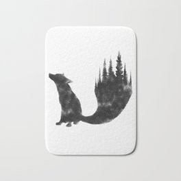 Black Fox Bath Mat