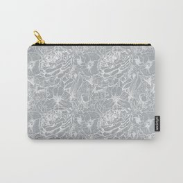 Of Peonies & Poppies - Paloma Blue Edition Carry-All Pouch