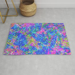 Floral Abstract Stained Glass G549 Rug