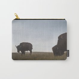 Bison Grazing in the Badlands Carry-All Pouch