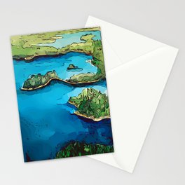 Boundary Waters Canoe Area - Aerial Watercolor Stationery Cards