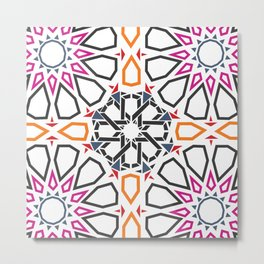 Moroccan Mosaic Colorful Metal Print