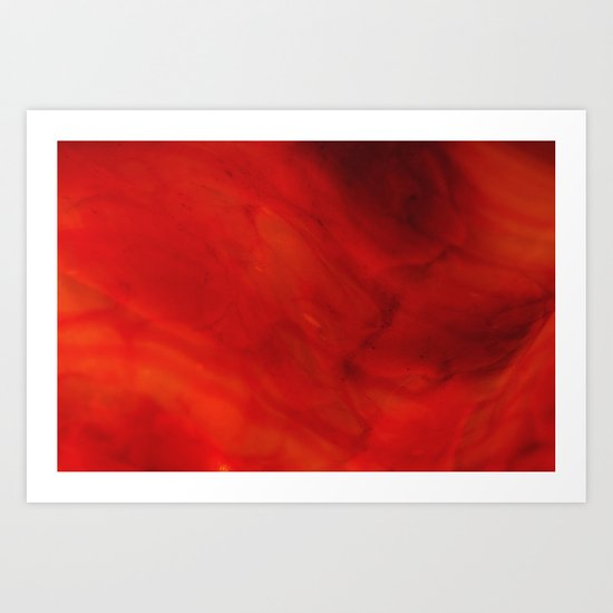 Red glass Art Print