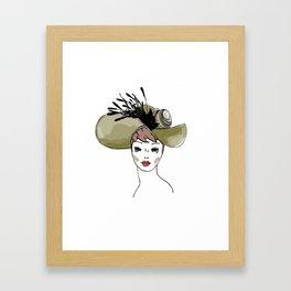 Kentucky Derby Hat Framed Art Print