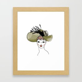 Kentucky Derby Hat Framed Art Print