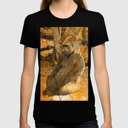 Magnificent Silverback Lowland Gorilla Grunge Photo with Vintage Effects T-shirt