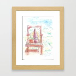 Drawing - Gardening Framed Art Print