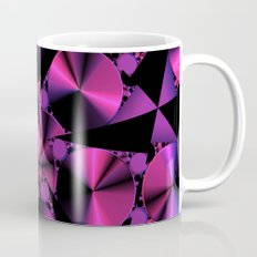 Abstract 344 a berry and black kaleidoscope Mug
