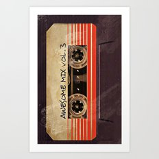 Awesome mix vol. 3 Art Print
