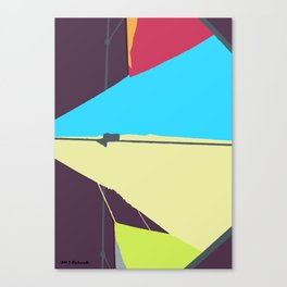 Kite—Aubergine Canvas Print