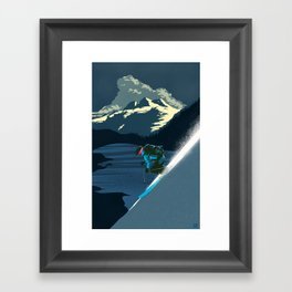 Retro ski Framed Art Print