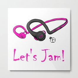 Let's Jam!! Metal Print