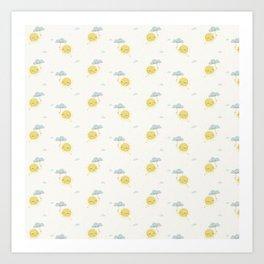 Little Sun white Art Print