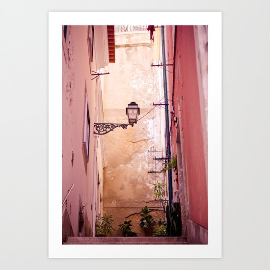 that lonely lamp up there Art Print