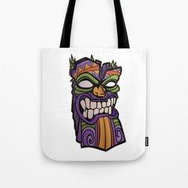 Tiki Mask Illustration Tote Bag