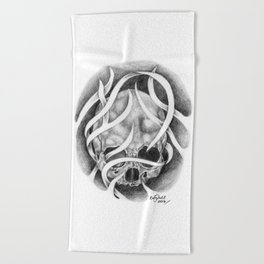 Swirly Skull Beach Towel