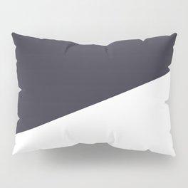 Urban Geometry Navy Blue + White Pillow Sham