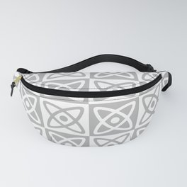 Mid Century Modern Atomic Check 138 Gray Fanny Pack