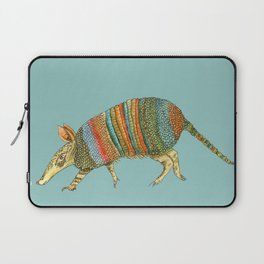 Armadillo on Blue Laptop Sleeve
