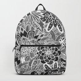 Chalkboard Flowers (Night Version) Backpack