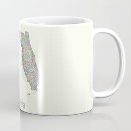 Florida map Coffee Mug