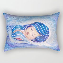 Blue Rectangular Pillow