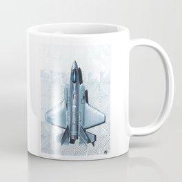F35 Top View Hatched Coffee Mug